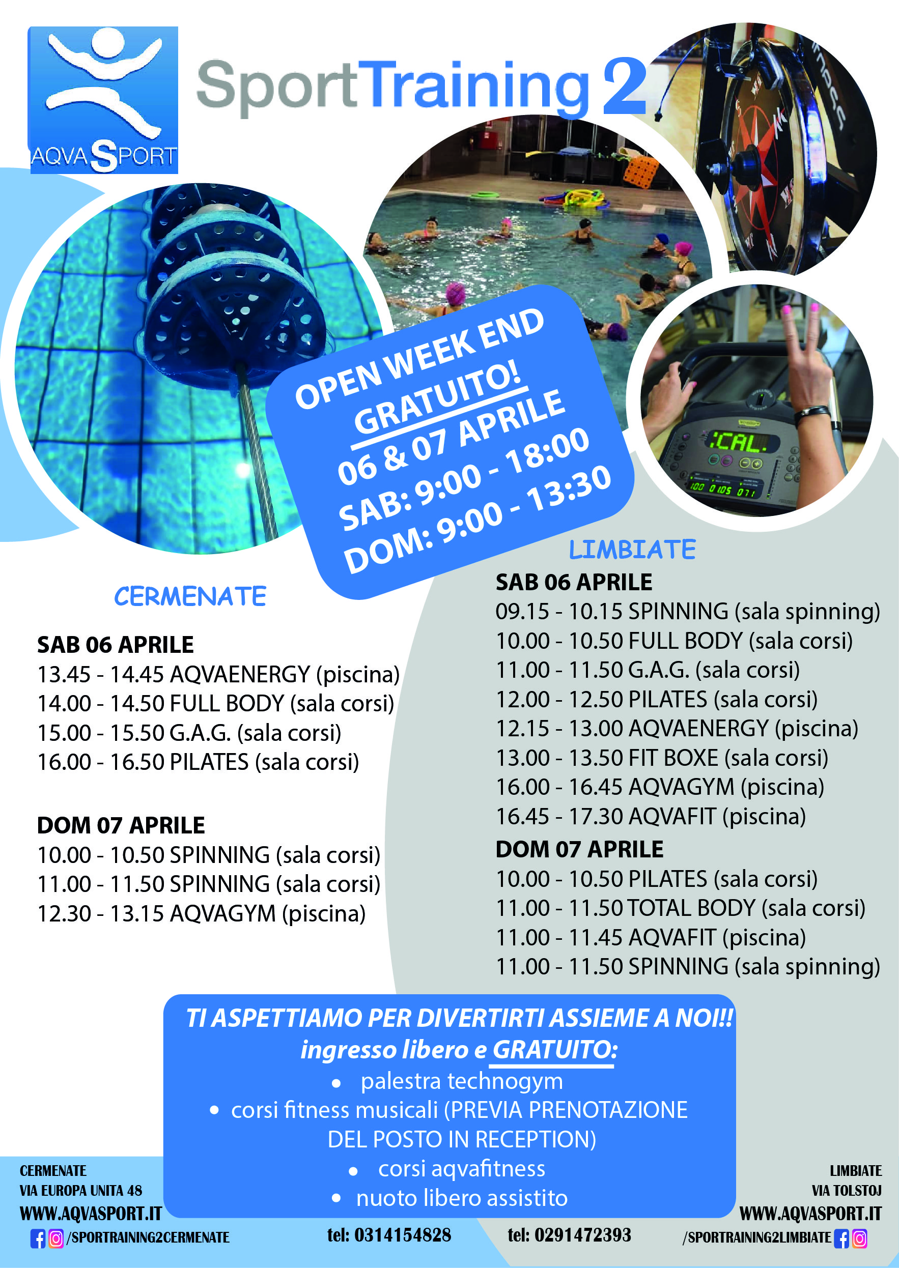 OPENDAY WEEK END 6/7 APRILE