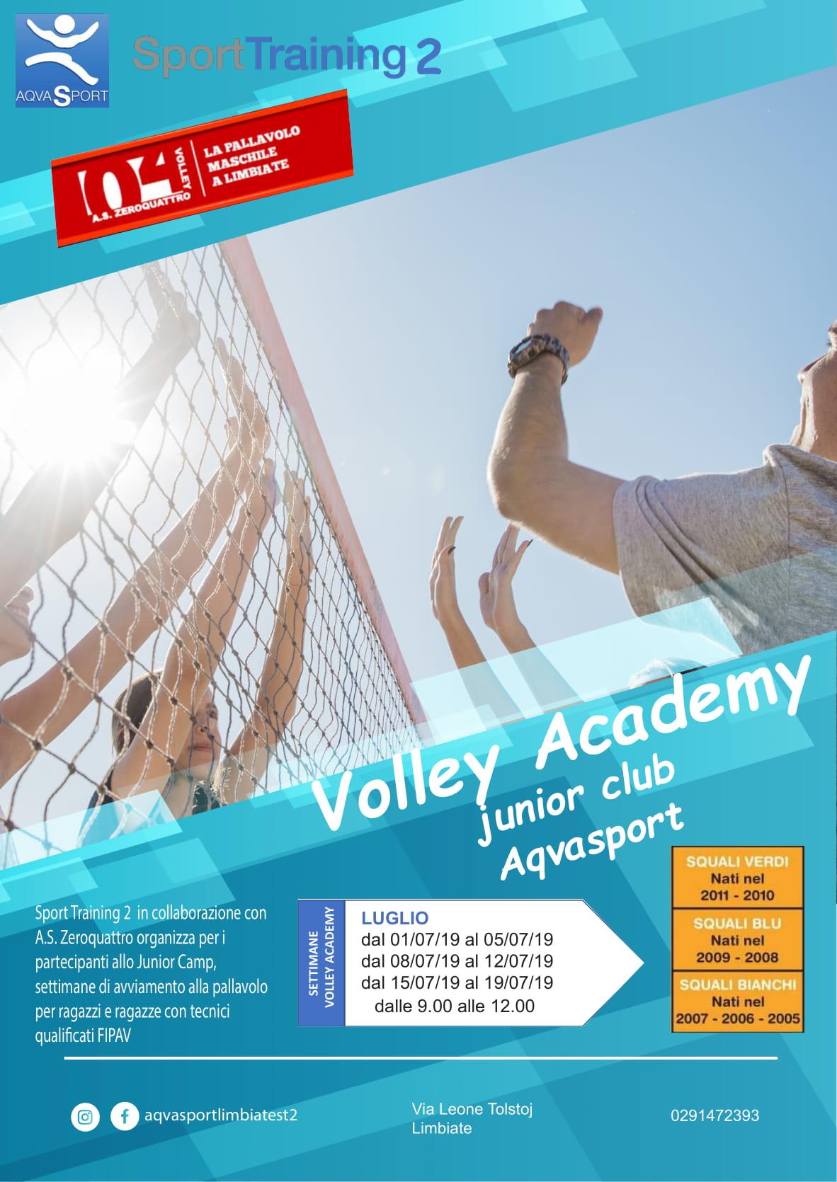 Volley accademy junior club Aqvasport